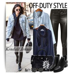 """Kendall Jenner"" by oshint ❤ liked on Polyvore featuring J Brand, Karl Lagerfeld, Fendi and Cole Haan"