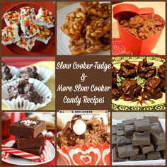 This slow cooker candy recipes are as easy as can be! The slow cooker fudge is especially decadent.