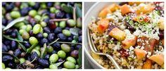 las olivas el aceita y los productos frescos son básicos en la dieta mediterránea