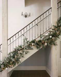 """Love this iron railing - Marie Flanigan Interiors (@marieflaniganinteriors) on Instagram: """"Scrolling through all the holiday decor has us thinking back on last year's install for…"""""""