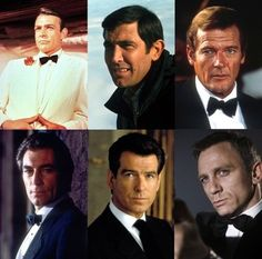 Six Bond men--who is your favourite?