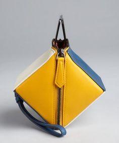 Fendi Yellow And Blue Leather Colorblock Cube Wristlet Alternate View Kate Spade Handbags, Chanel Handbags, Handbags Michael Kors, Women's Handbags, Discount Designer Handbags, Brighton Handbags, Cute Bags, Fashion Bags, Clutch Bag