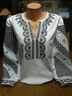 Ukrainian embroidery, embroidered blouse, ANY COLOR, XS - cotton, Ukraine Folk Fashion, Diy Fashion, Ukrainian Dress, Kurti Neck Designs, Fashion Capsule, Dress Images, Embroidered Blouse, Indian Outfits, Blouses For Women
