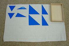 Constructive Triangles - Blue Rectangular Box - MontessoriAlbum