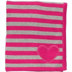 Striped Cotton Sweater Blanket baby girl ($30) ❤ liked on Polyvore featuring baby, baby stuff, baby blankets, baby clothes and baby girl