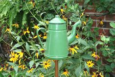 Beyond Bunnies:  Accenting your garden with art, plus a garden accent making how-to