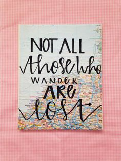 Canvas quote not all those who wander are lost by kismetcanvas