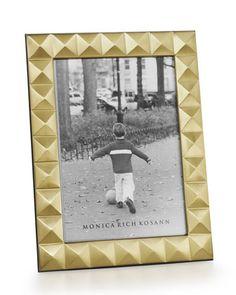 Gold/Silver/White - Pyramid Stud Frame  Brass Pyramid Frame by Monica Rich Kosann at Bergdorf Goodman.