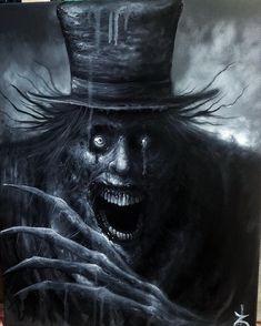 Art by Zach Dunn - painter - oil painting - horror - horrorart - monster - creature - Babadook Dark Fantasy Art, Fantasy Kunst, Creepy Images, Creepy Pictures, Horror Pictures, Creepy Drawings, Dark Art Drawings, Creepy Paintings, Demon Art