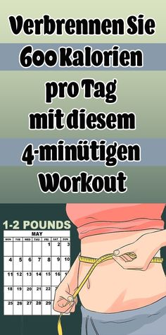 Verbrennen Sie 600 Kalorien pro Tag mit diesem Workout Burn 600 calories a day with this 4 Minute Workout, Best Cardio Workout, Easy Workouts, Fitness Workouts, Fitness Hacks, Health Fitness, Calories A Day, Burn Calories, Weights