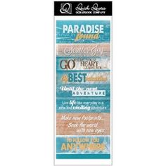 "What better way to have your layouts match our Quick Quotes paper than with these 11""x4"" strip of cardstock paper.  Have them match our paper lines or great add on for any layout. These strip of paper are the perfect touch to finish."