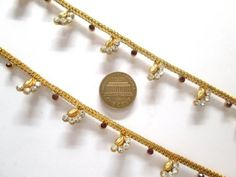 ASYTNYC CZ Faux Garnet Red Golden Look Fashion One Paire Leg Payal Anklet Set Bargains Women India Indian Bollywood Fashion Jewelry Accessories Z Others -- Want to know more, click on the image.