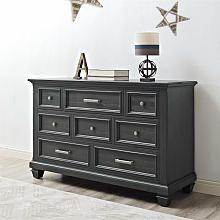 Bertini Nashville Knox 8 Drawer Dresser  Weathered Charcoal