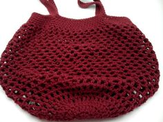 Crocheted Bag Market Bag Gift for Mother Gifts for her Mother's Day gift cotton market bag Handmade crochet Shopping Bag burgundy bags crochet market tote Burgundy Bag, Crochet Market Bag, Crochet Crop Top, Crochet Handbags, Summer Accessories, Bead Crochet, Mother Gifts, Mothers, Handmade Clothes