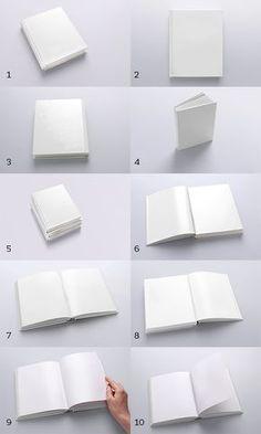 Book Mockups / 10 Different Images by Aleksander GrafAS, via Behance