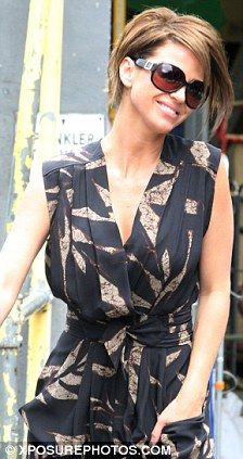Jungle fever: Sarah Harding gets on this season's fashion trend in ...