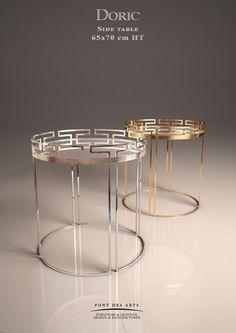Doric Side table- Designer Monzer Hammoud - Pont des Arts Studio - Paris