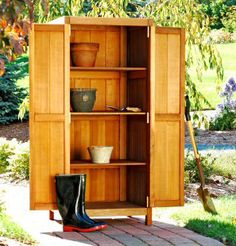 Outdoor Patio Buffet and Teak Storage Cabinets - Patented Storage Buffet Cabinet from Brookbend