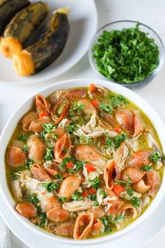 This Bolivian chicken noodle soup with plantains and fried noodles is pure comfort food. The ingredients are simple and inexpensive. A perfect winter meal. Whole30 Recipes Lunch, Quick Lunch Recipes, Easy Whole 30 Recipes, Chicken Parmesan Recipes, Chicken Soup Recipes, Beef Recipes, Cooking Recipes, Bolivian Food, Bolivian Recipes