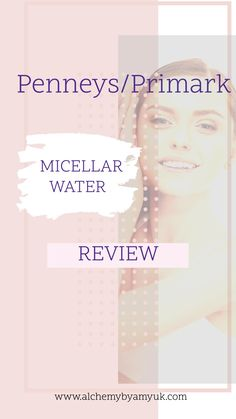 Cleansing Water, Micellar Water, Blog Pictures, Wellness, Wash Your Face, Cotton Pads, Vegan, Clean Beauty, Primark