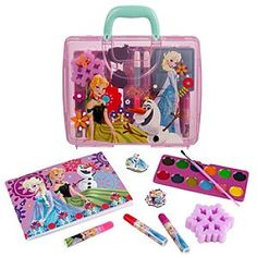 Disney Frozen Art Kit Case | Disney StoreFrozen Art Kit Case - She can draw inspiration from the box office blockbuster <i>Frozen</i> when she expresses her creative talents with this art kit case. Anna, Elsa, and Olaf are pictured on the sturdy case that includes markers, paints, sketch pad, and more!