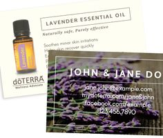 8 best amazing doterra business cards images on pinterest doterra bare essentials lavender doterra business card flashek Image collections