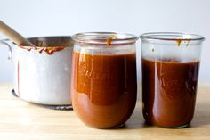 A tangy, subtly spicy, delicious mutt of grilling influences in one profoundly moppable homemade barbecue sauce.