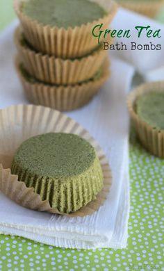 Green Tea Bath Bombs | 10 Easy DIY Bath Bomb Recipes For A More Glorious Bath Time! | Homemade Beauty Recipes by Makeup Tutorials at makeuptutorials.c...