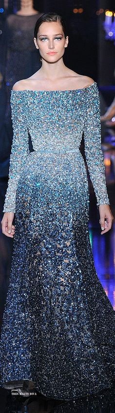 this is the most wonderful dress i've seen in a looooong time -- Elie Saab Couture Fall 2014 -