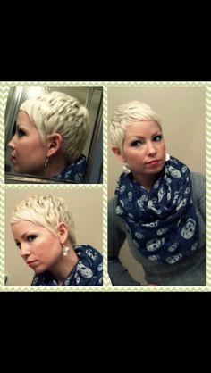 blonde pixie--super cute