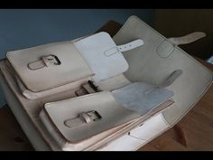 Making a large satchel - Part 1 - Handle and Buckles - YouTube