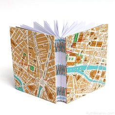 Small Paris Travel Journal by Ruth Bleakley with map of Paris