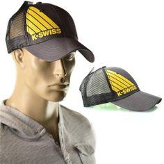 K-Swiss Hat Mens Bold Logo Trucker Lid Mesh Baseball Cap One Size NEW Gray #KSwiss #Trucker | http://www.ebay.com/sme/imagestudio714/Save-35-for-every-250-you-spend/so.html?_soffid=5001617500&_sid=2054254