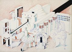 1977 ABACO 4_1979_cartone cm. 50 x 70_by Brunetto De Batté