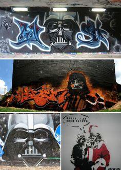 Star Wars: Darth Vader.. . #streetart #graffiti #starwars