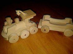 LadislavKurnota / Drevený vláčik s vagónikom Wooden Toys, Car, Wooden Toy Plans, Wood Toys, Automobile, Woodworking Toys, Autos, Cars