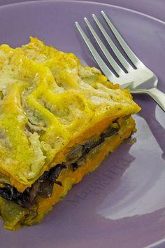 LASAGNE ZUCCA E RADICCHIO #lasagne #zucca #radicchio #vegetariana #ricettafacile
