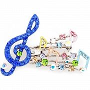 Multicolor Crystal Music Note Swarovski Crystal Pin Brooch
