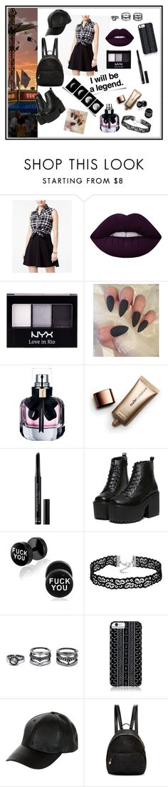 """""""Legend"""" by toasumjas ❤ liked on Polyvore featuring Emerald Sundae, Lime Crime, NYX, Yves Saint Laurent, Nude by Nature, Christian Dior, LULUS, Savannah Hayes, New Look and STELLA McCARTNEY"""