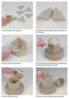 Handbuilding Pottery Templates Cute 280 Best Ceramic & Pottery Techniques and tools Images On Of Handbuilding Pottery Templates Awesome How to Handbuild A Hexagonal Jar Using A Template Ceramic Arts Daily – How to Handbuild a Hexagonal Jar Using a Templ Hand Built Pottery, Slab Pottery, Ceramic Pottery, Thrown Pottery, Pottery Wheel, Pottery Vase, Ceramics Projects, Clay Projects, Clay Crafts