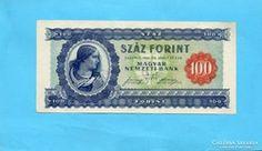 !!!! HAJTATLAN !!!! aUNC 100 Forint 1946 Így igen Ritka!!! Personalized Items, Cards, Maps, Playing Cards