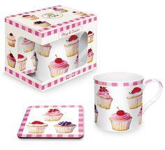 Kubek porcelanowy z korkową podkładką. NUOVA R2S - DECO Salon || Porcelain cup with a cork pad