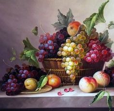 Uvas e pêssegos