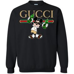 Check this Gucci Stripe Mickey Unisex Pullover Sweatshirt Gift Trending Design T Shirt . Hight quality products with perfect design is available in a spectrum of colors and sizes, and many different types of shirts! Mens Fashion Casual Shoes, Fashion Clothes, Teen Fashion, Fashion Outfits, Sweatshirt Outfit, Gucci Sweatshirt, Gucci Shirts, Image Fashion, Gucci Brand