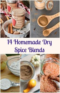 14 Homemade Dry Spice Blends, from BBQ to Cajun to Pumpkin these Make Your Own Spice Mixes will be all that you need. Fast and Easy. via /https/://it.pinterest.com/Italianinkitchn/