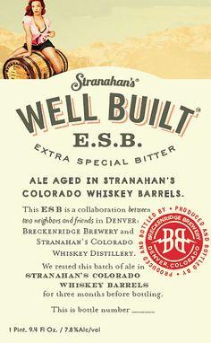 Stranahan's Well Built ESB Aged for 6 months in Stranahan's Whiskey Barrels (Denver, CO.)