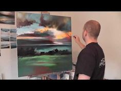 http://www.scottnaismith.co.uk    SCOTTISH CONTEMPORARY LANDSCAPE OIL PAINTING DEMO  Landscape painting demonstration in oil paint by scottish contemporary landscape artist Scott Naismith.  In this middle part, all layering from part 1 is dry. Using techniques of glazing, layers of transparent paint are applied to manipulate colour. Having got t...