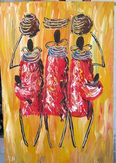 Купить Это Африка! Картина акрилом - оранжевый, картина, картина в подарок, картина для интерьера