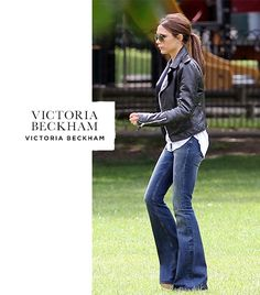 Victoria Beckham. She ALMOST makes me want to get a pair of flared jeans. Almost ...