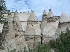 """2)  Little known place on earth. New Mexico's Kasha-Katuwe tent rocks were formed around seven million years ago as a result of ash deposited by pyroclastic flow from a volcanic explosion. As is the case with most rock formations, weathering and erosion can be credited with creating the area's remarkable geography. The markedly pointy phallus-like stones receive their interesting name from the area's native language and means """"white cliffs"""". The rocks vary in height from only a few feet to…"""